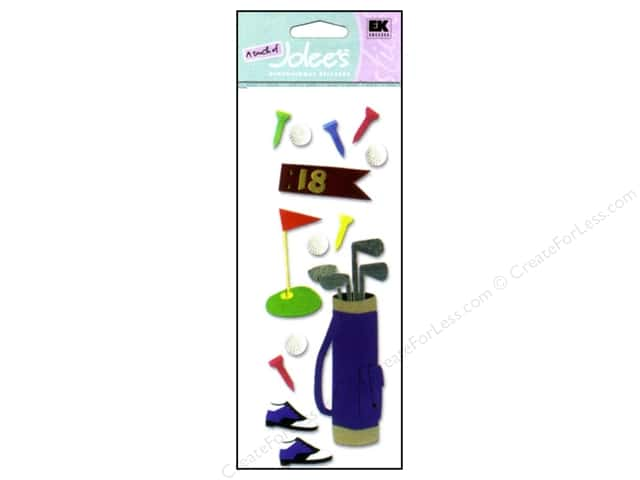 EK A Touch of Jolee's 3D Sticker Golfing