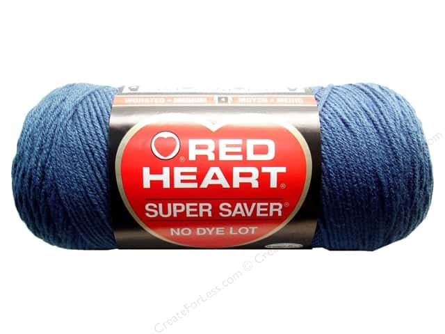 Red Heart Super Saver Yarn #0380 Windsor Blue 364 yd.