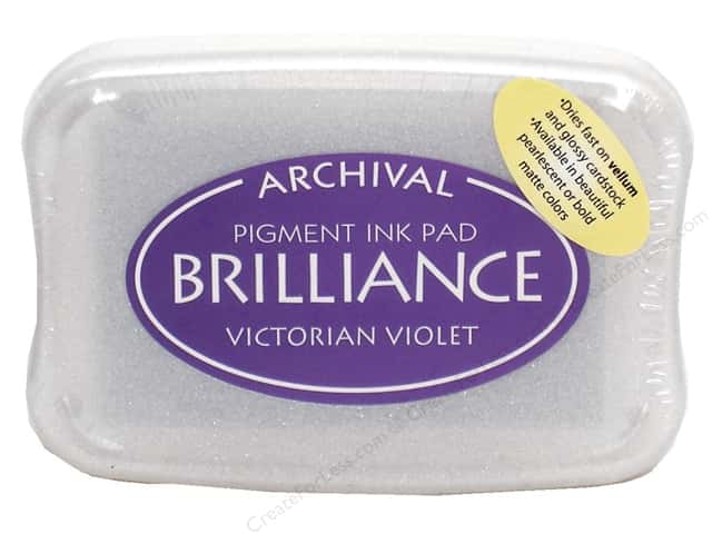 Tsukineko Brilliance Large Craft Stamp Pad Victorian Violet