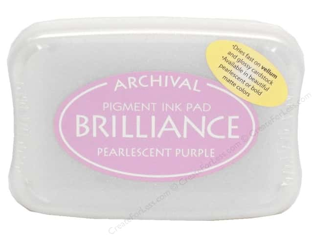 Tsukineko Brilliance Large Stamp Pad Pearl Purple