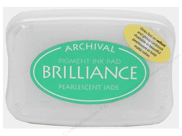 Tsukineko Brilliance Large Craft Stamp Pad Pearl Jade