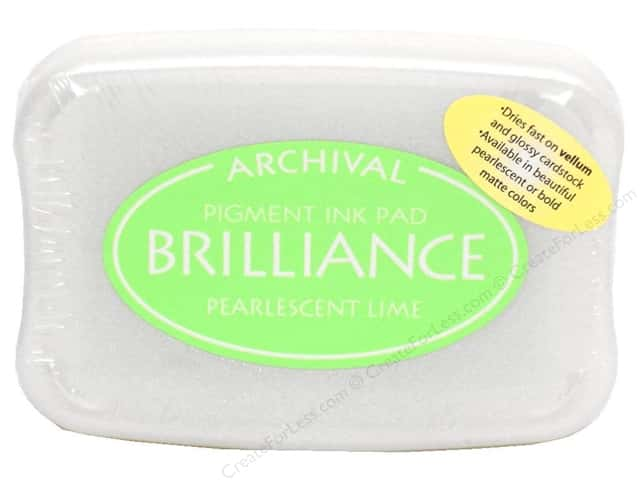 Tsukineko Brilliance Large Craft Stamp Pad Pearl Lime
