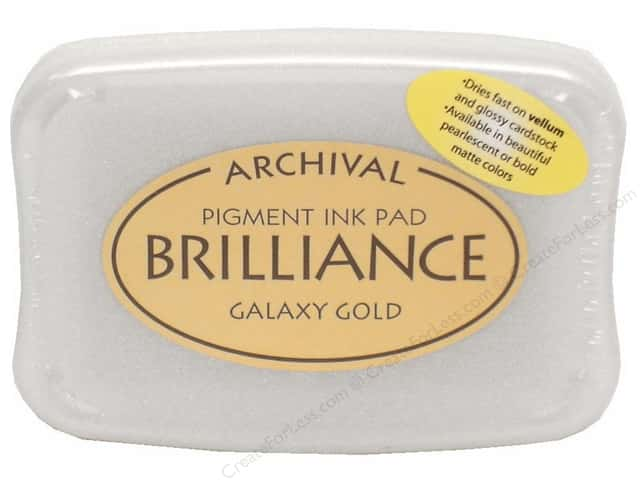 Tsukineko Brilliance Large Craft Stamp Pad Galaxy Gold