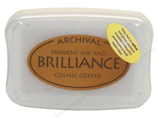 Tsukineko Brilliance Large Craft Stamp Pad Cosmic Copper