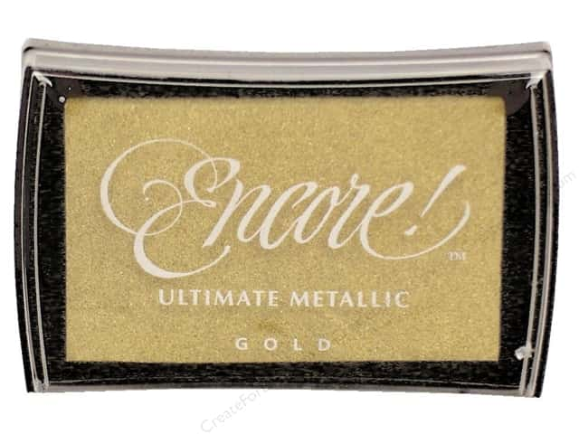 Tsukineko Encore! Ultimate Metallic Stamp Pad Gold