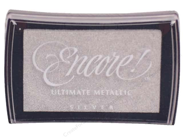 Tsukineko Encore! Ultimate Metallic Stamp Pad Silver