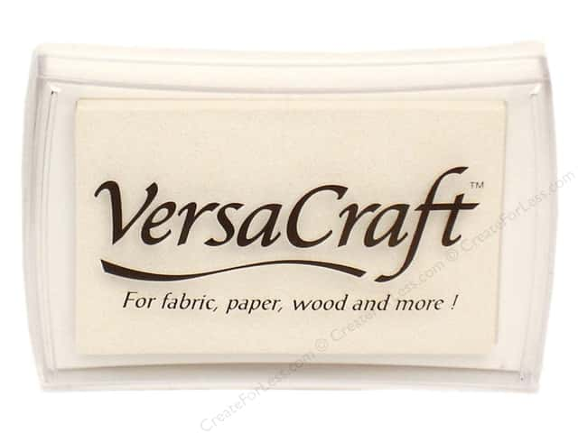 Tsukineko VersaCraft Large Craft Ink Stamp Pad White