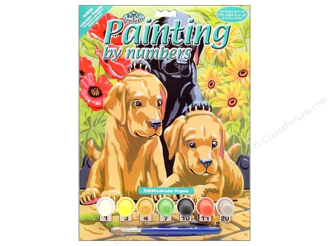 Royal Paint By Number Kit Labrador Puppies