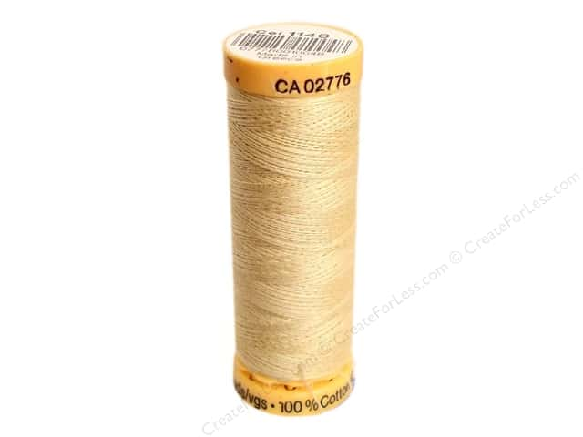 Gutermann 100% Natural Cotton Sewing Thread 109 yd. #1140 Chamois