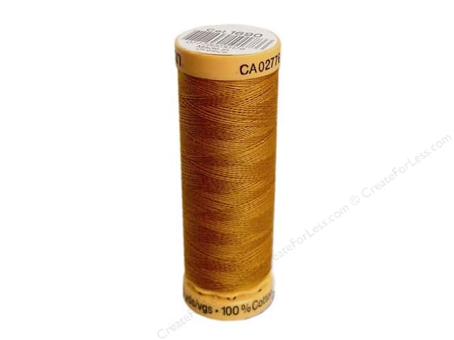Gutermann 100% Natural Cotton Sewing Thread 109 yd. #1690 Spanish Gold