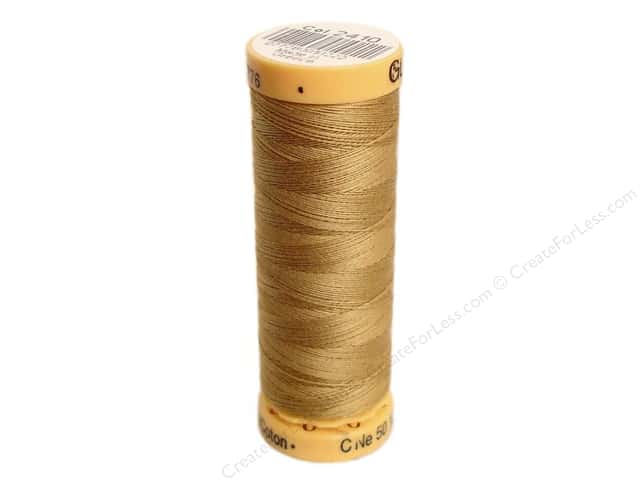 Gutermann 100% Natural Cotton Sewing Thread 109 yd. #2410 Tan