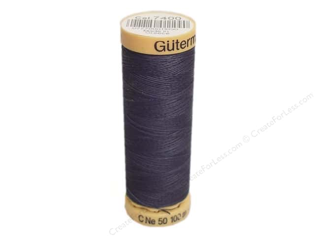 Gutermann 100% Natural Cotton Sewing Thread 109 yd. #7400 Dark Cosmos Blue