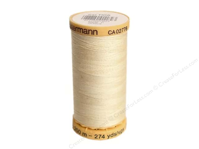 Gutermann 100% Natural Cotton Sewing Thread 273 yd. #1105 Cream