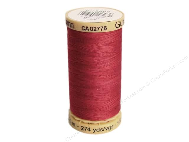 Gutermann 100% Natural Cotton Sewing Thread 273 yd. #5860 Cranberry