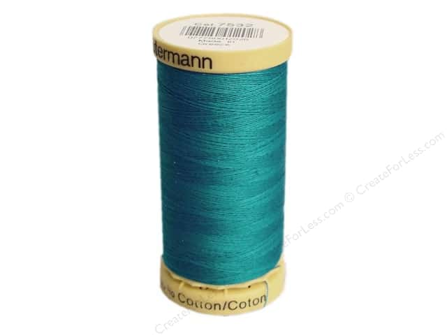 Gutermann 100% Natural Cotton Sewing Thread 273 yd. #7532 Turquoise
