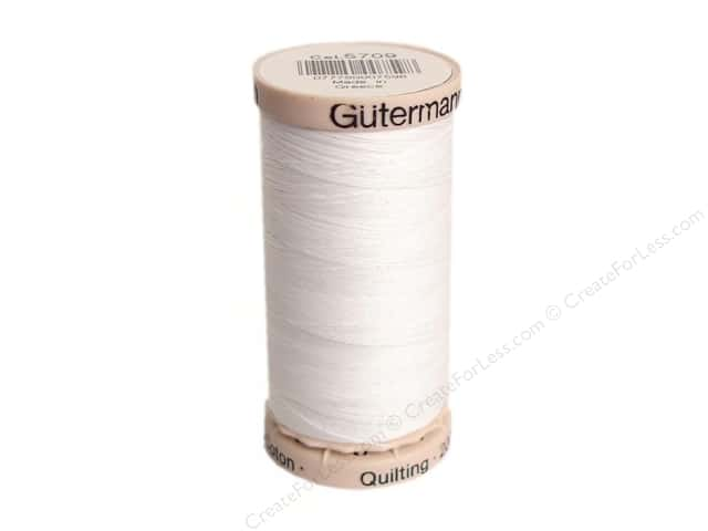Gutermann Hand Quilting Thread 220 yd. #5709 White