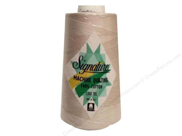 Signature 100% Cotton Thread 3000 yd. #028 Ivory