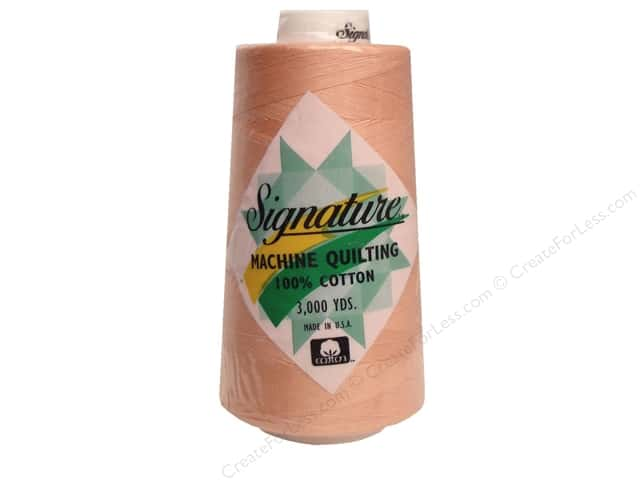 Signature 100% Cotton Thread 3000 yd. #197 Pale Peach