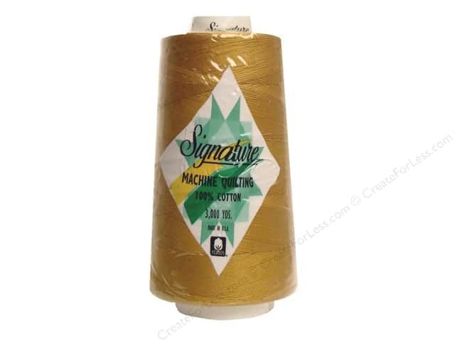 Signature 100% Cotton Thread 3000 yd. #474 Mustard