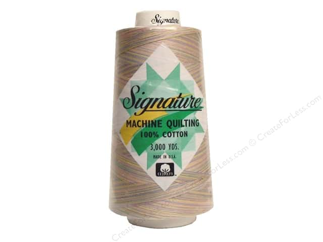 Signature 100% Cotton Thread 3000 yd. #M07 Variegated Pastels