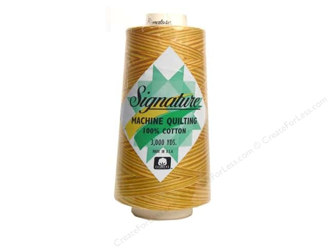 Signature 100% Cotton Thread 3000 yd. #M09 Variegated Golden Harvest