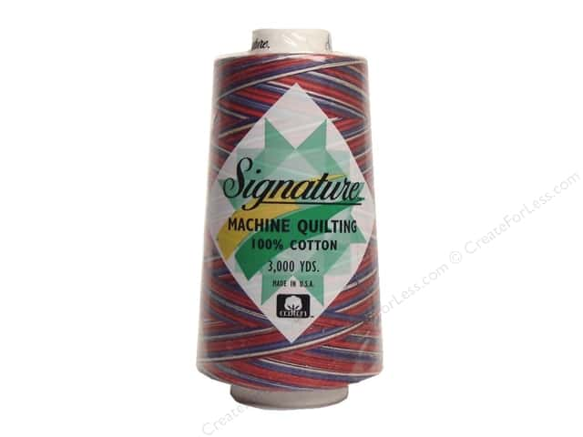 Signature 100% Cotton Thread 3000 yd. #M13 Variegated Stars & Stripes