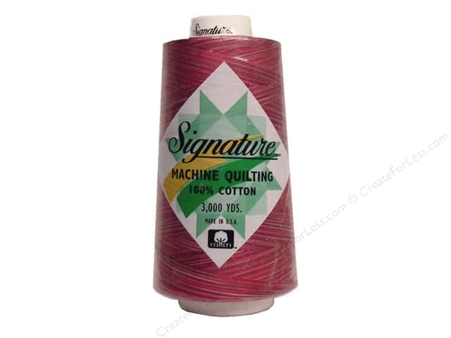Signature 100% Cotton Thread 3000 yd. #M15 Variegated Rose Petals