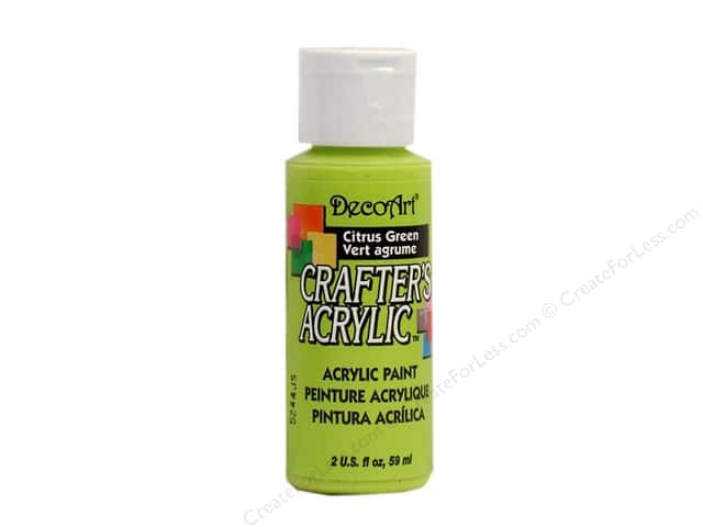 DecoArt Crafter's Acrylic Paint 2 oz. #103 Citrus Green
