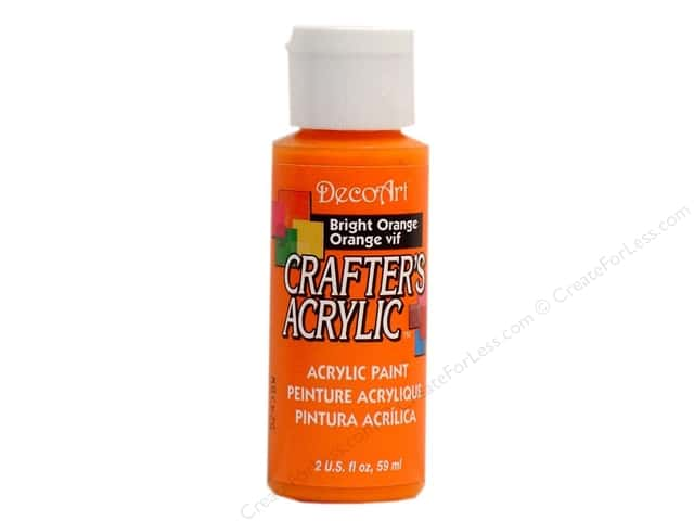 DecoArt Crafter's Acrylic Paint 2 oz. #97 Bright Orange
