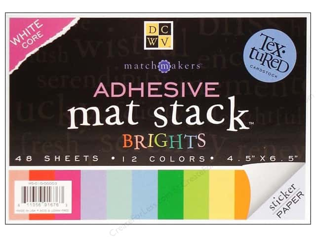 Die Cuts With A View Adhesive Mat Stacks 6 1/2 x 4 1/2 in. Brights