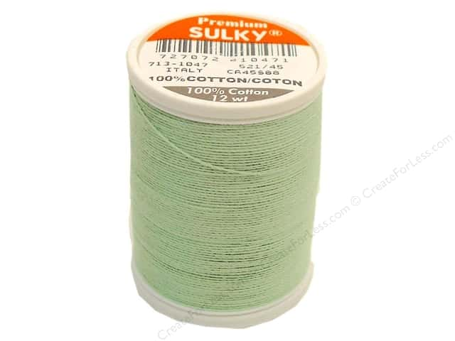 Sulky Cotton Thread 12 wt. 330 yd. #1047 Mint Green