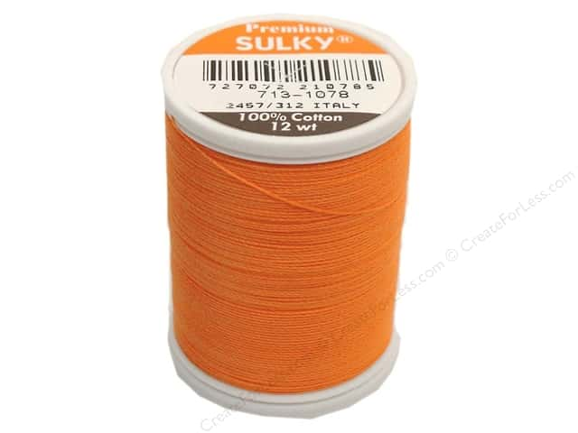 Sulky Cotton Thread 12 wt. 330 yd. #1078 Tangerine