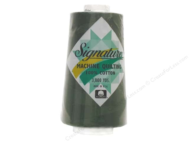 Signature 100% Cotton Thread 3000 yd. #495 Pine