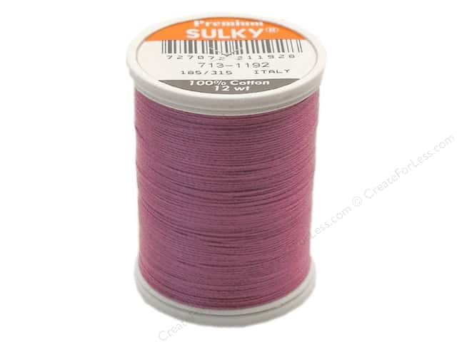 Sulky Cotton Thread 12 wt. 330 yd. #1192 Fuchsia