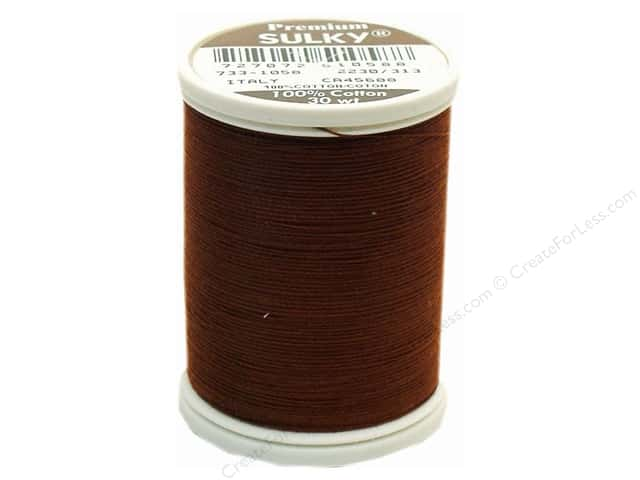 Sulky Cotton Thread 30 wt. 500 yd. #1058 Tawny Brown