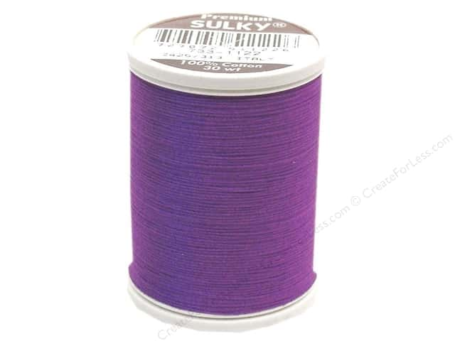 Sulky Cotton Thread 30 wt. 500 yd. #1122 Purple