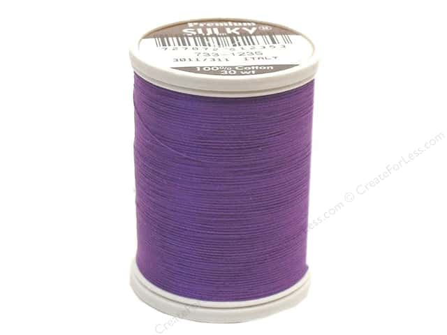Sulky Cotton Thread 30 wt. 500 yd. #1235 Deep Purple