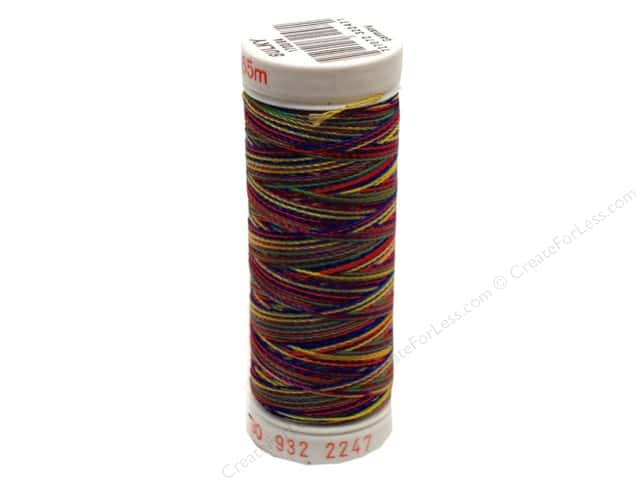Sulky Rayon Thread 30 wt. 180 yd. #2247 Blue/Lavender/Red/Yellow/Green