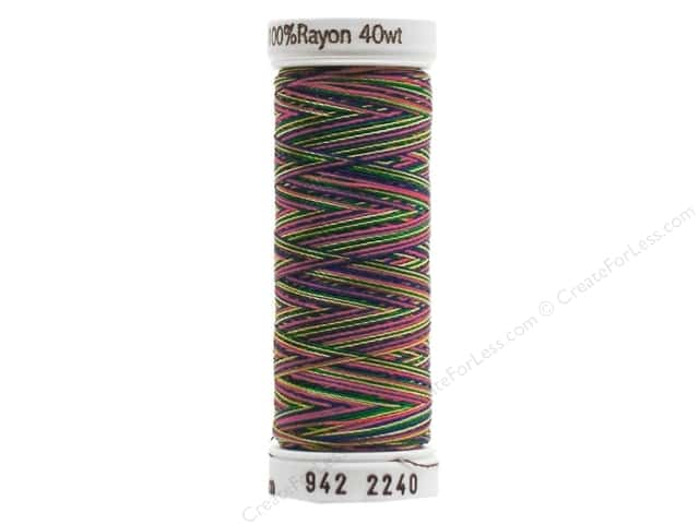 Sulky Rayon Thread 40 wt. 250 yd. #2240 Green/Coral/Blue/Yellow