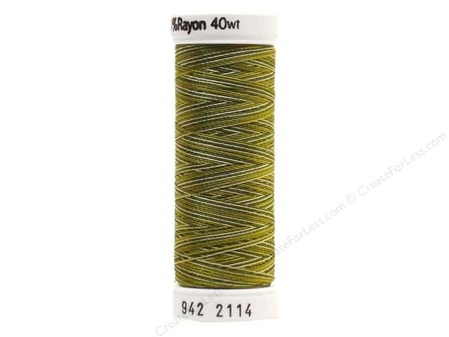 Sulky Rayon Thread 40 wt. 250 yd. #2114 Avocado Greens