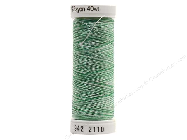 Sulky Rayon Thread 40 wt. 250 yd. #2110 True Greens