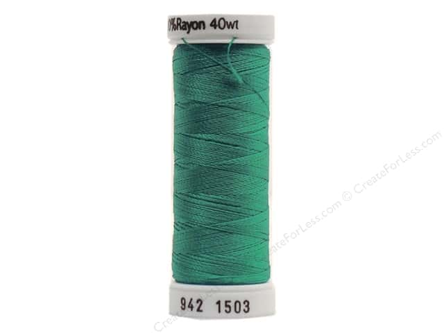Sulky Rayon Thread 40 wt. 250 yd. #1503 Green Peacock