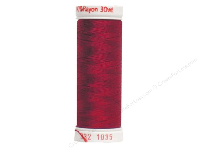 Sulky Rayon Thread 30 wt. 180 yd. #1035 Dark Burgundy