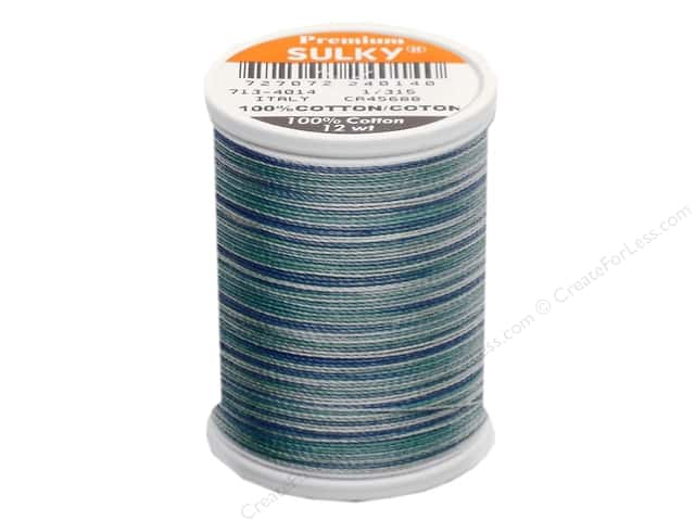 Sulky Blendables Cotton Thread 12 wt. 330 yd. #4014 Ocean Blue