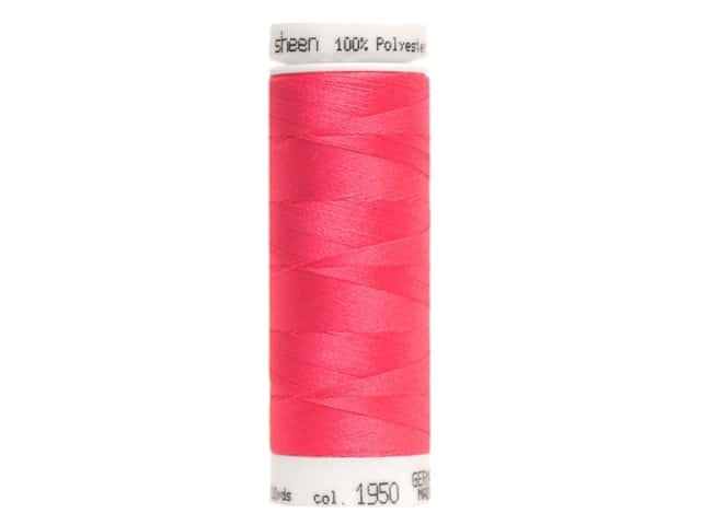 Mettler PolySheen Embroidery Thread 220 yd. #1950 Tropical Pink