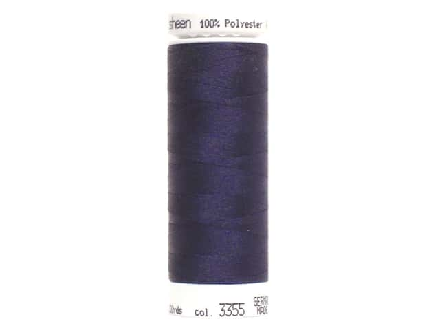 Mettler PolySheen Embroidery Thread 220 yd. #3355 Dark Indigo