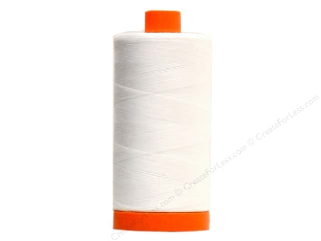 Aurifil Mako Cotton Quilting Thread 50 wt. #2024 White 1420 yd.