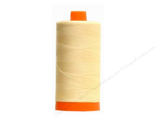 Aurifil Mako Cotton Quilting Thread 50 wt. #2123 Butter 1420 yd.