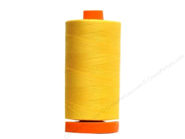 Aurifil Mako Cotton Quilting Thread 50 wt. #2135 Yellow 1420 yd.
