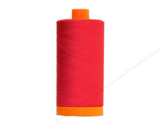 Aurifil Mako Cotton Quilting Thread 50 wt. #2250 Red 1420 yd.